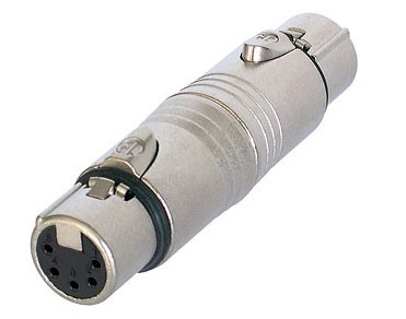 XLR 5 Pin Female to Female DMX Gender Changer