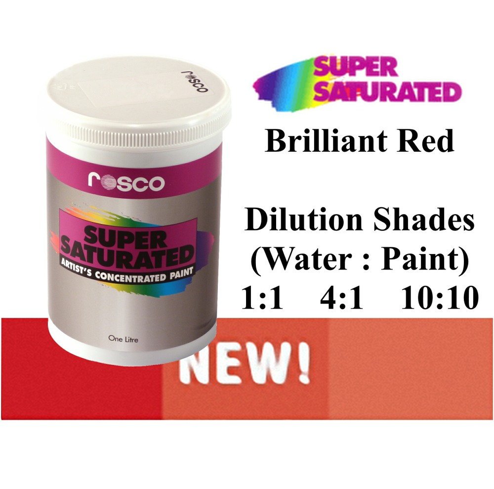 1l Rosco Super Saturated Brilliant Red Paint