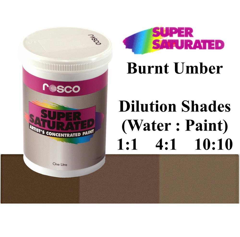 1l Rosco Super Saturated Burnt Umber Paint