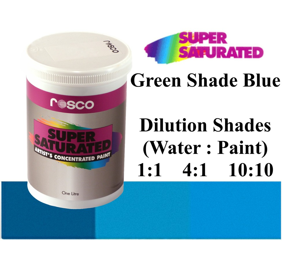 1l Rosco Super Saturated Green Shade Blue Paint