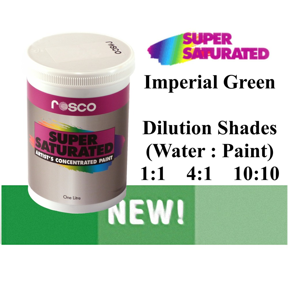 1l Rosco Super Saturated Imperial Green Paint