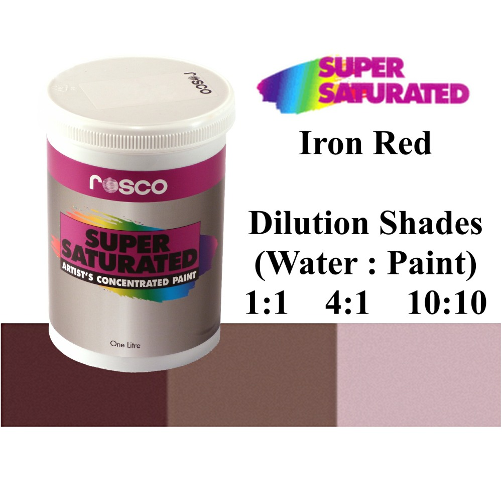 1l Rosco Super Saturated Iron Red Paint