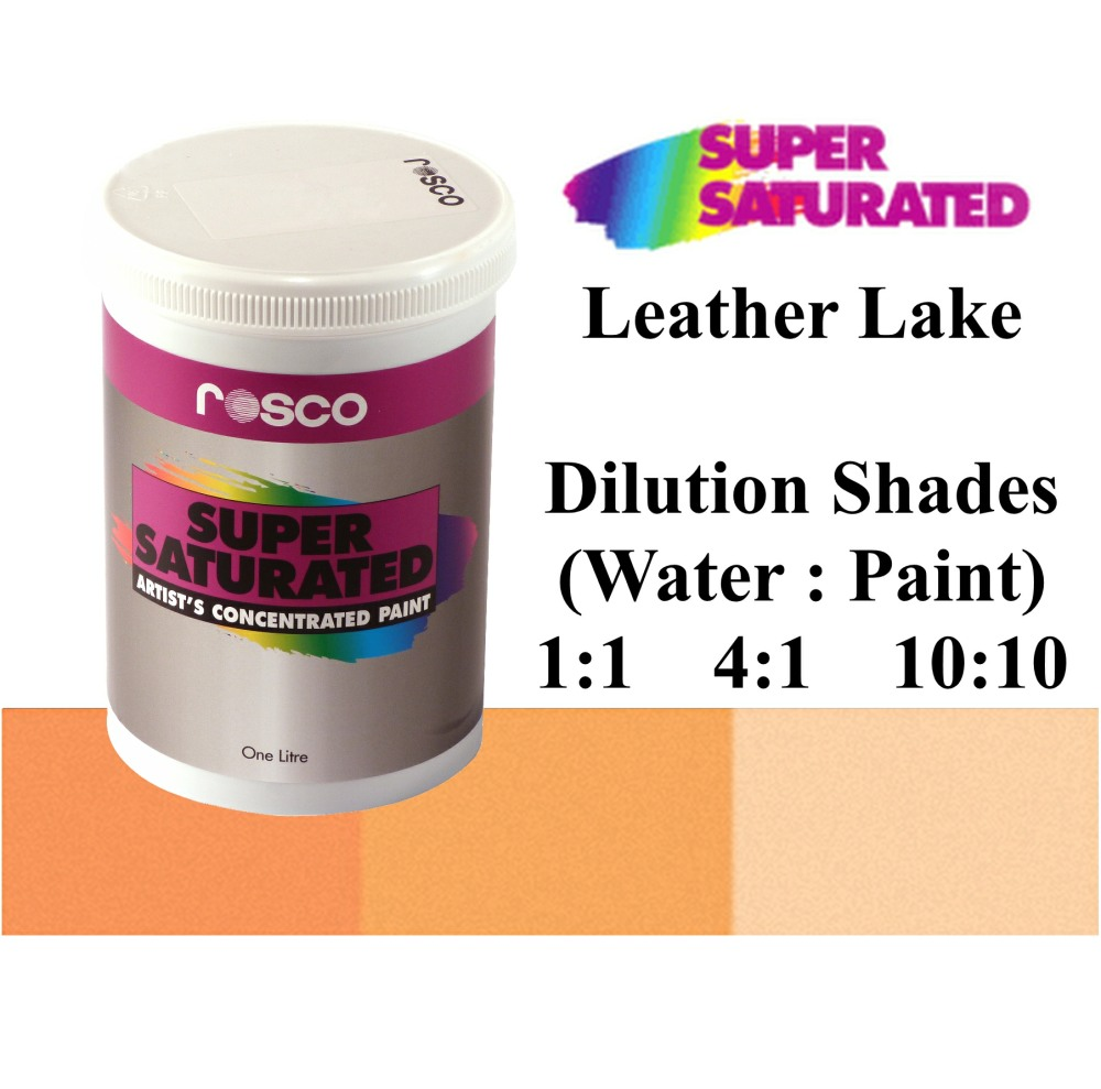 1l Rosco Super Saturated Leather Lake Paint