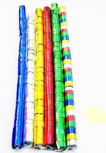 Pack 32 x 10m Metalic Multicolor Streamers