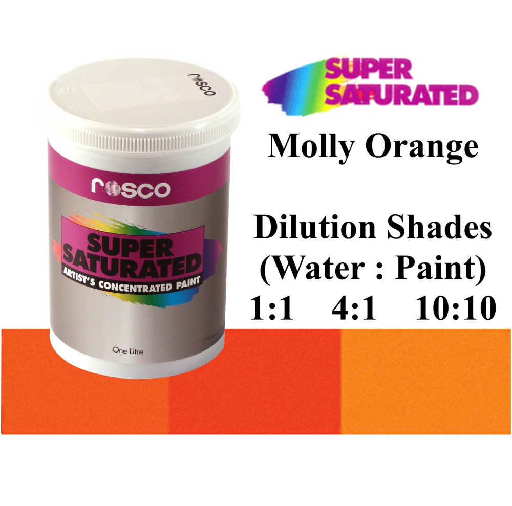 1l Rosco Super Saturated Molly Orange Paint