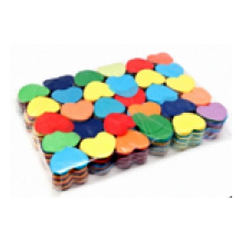 1kg Multicolour Heart Shaped Chinese Confetti
