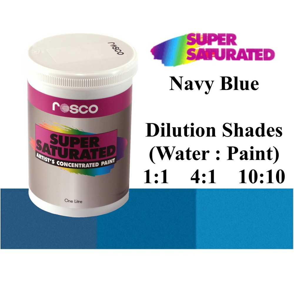 1l Rosco Super Saturated Navy Blue Paint
