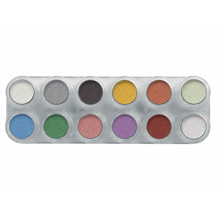 2.5gm Grimas 12 Pearl Palette Eyeshadow / Rouge