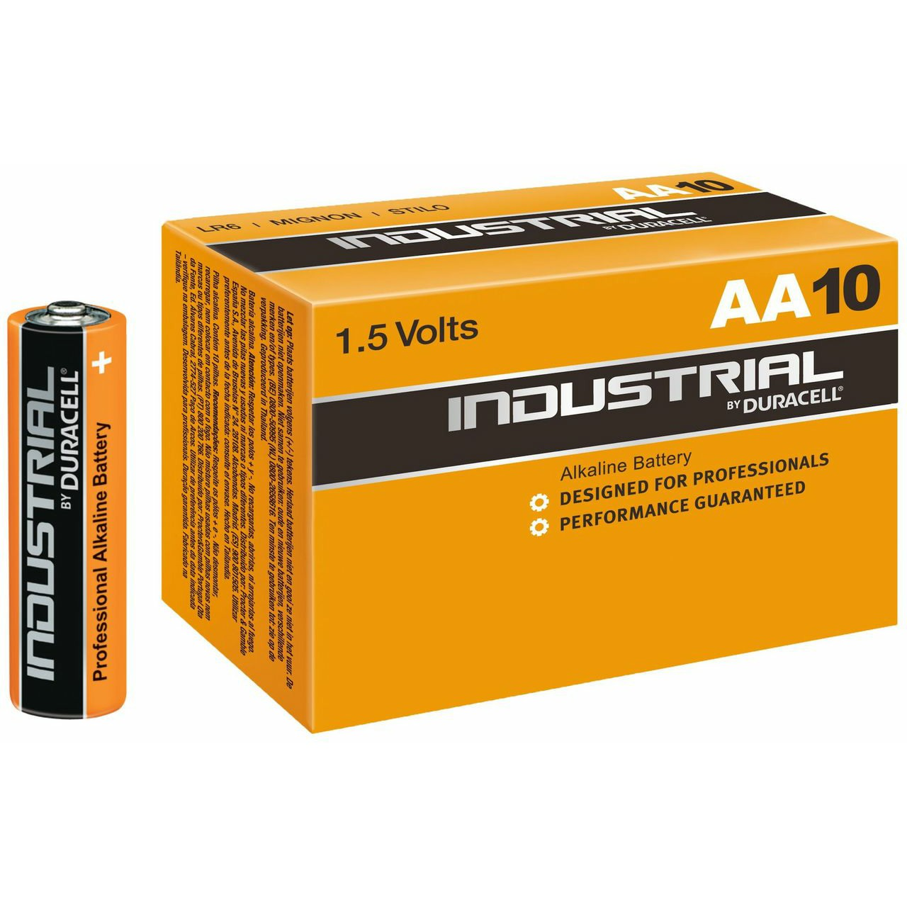 Duracell Procell Industrial AA MN1500 LR6 Battery (Pack of 10)