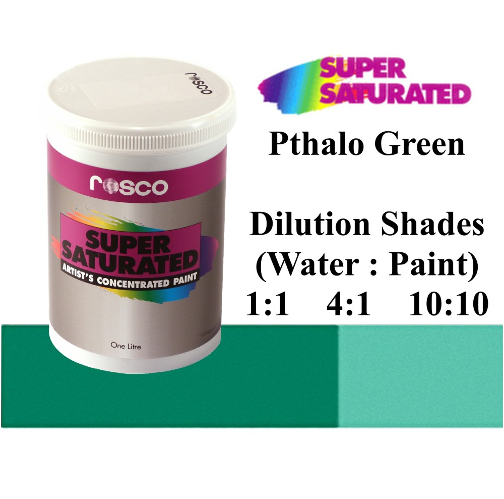 1l Rosco Super Saturated Pthalo Green Paint
