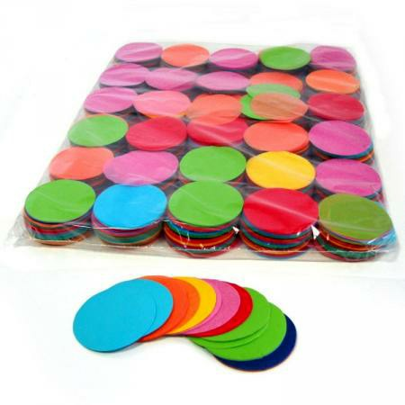 1kg Bag of Multicolour 55mm Circular Confetti