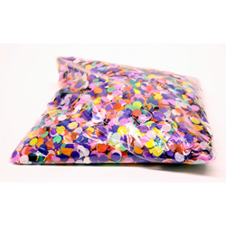 1kg Bag of Multicolour Circular Confetti